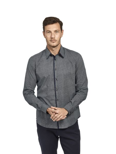 Mish Mash Men's Designer Long Sleeve Buttoned Navy Blue Casual Shirt